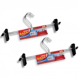 Cabide para Saia em Aço Cromado - Conjunto com 04 Cabides para Saia - TN